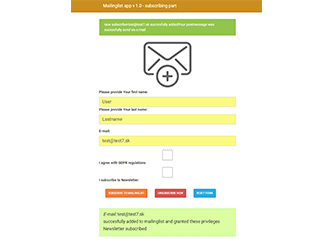 Mailinglist – php example code – part 1 – app decomposition