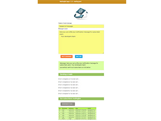 Mailinglist – php example code – part 3 – mailer page