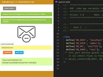 Mailinglist – php example code – part 6 – further small improvements