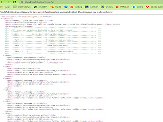 Bazaar – php example code – part 13 – RSS syndication script